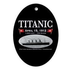 Titanic Ghost Ship (black) Oval Ornament Porcelain