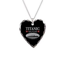 Titanic Ghost Ship (black) Necklace Heart Charm