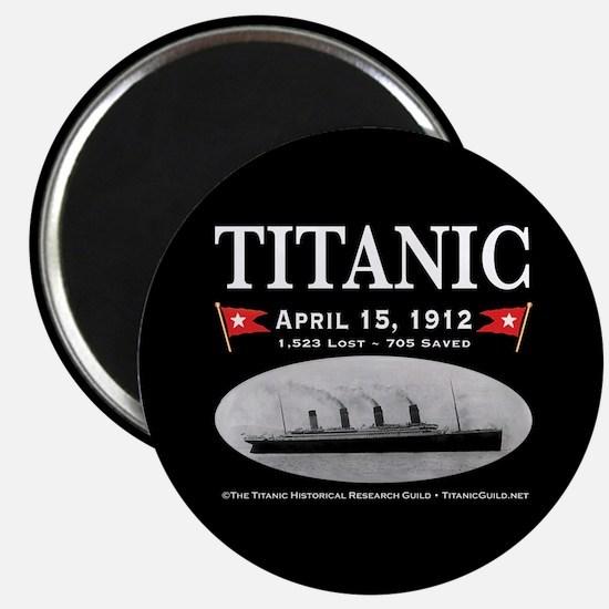 "Titanic Ghost Ship (black) 2.25"" Magnet"
