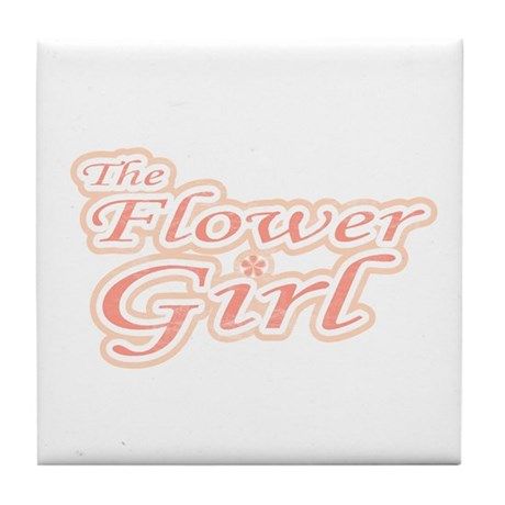 Flower Girl Tile Coaster