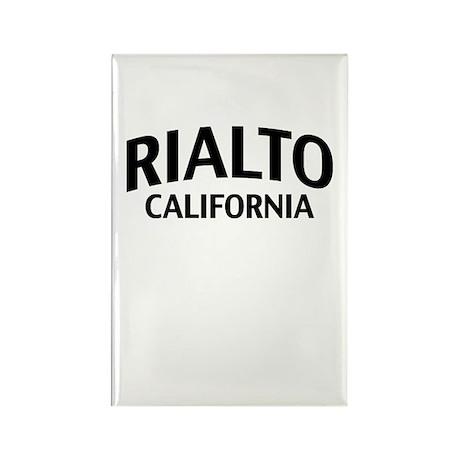 Rialto California Rectangle Magnet
