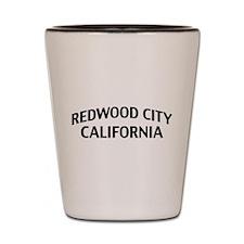 Redwood City California Shot Glass