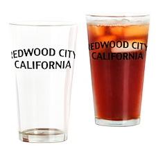 Redwood City California Drinking Glass