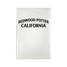 Redwood-Potter California Rectangle Magnet
