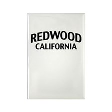 Redwood California Rectangle Magnet