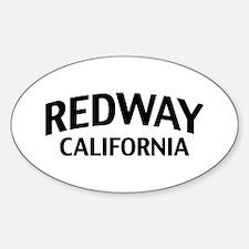 Redway California Sticker (Oval)