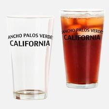 Rancho Palos Verdes California Drinking Glass
