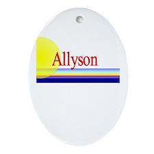 Allyson Oval Ornament