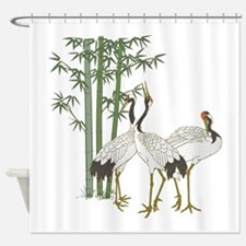 Crane & bamboo Shower Curtain