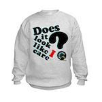 Does It Look Like I Care Kids Sweatshirt