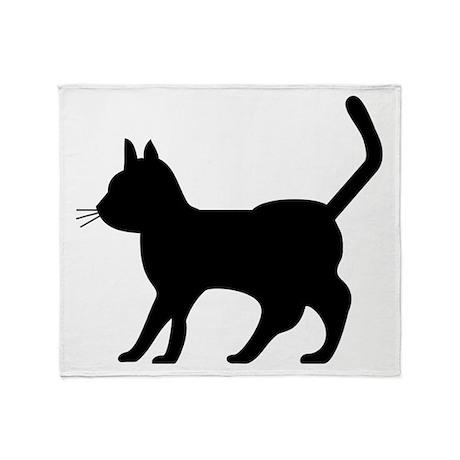 Shadow Cat Throw Blanket
