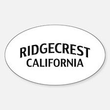 Ridgecrest California Sticker (Oval)