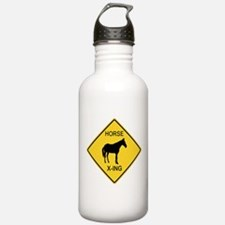 Horse Crossing Sign Water Bottle