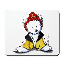 Fireman Westie Mousepad