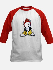 Fireman Westie Kids Baseball Jersey
