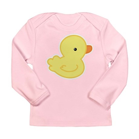 Yellow Baby Duck Long Sleeve Infant T-Shirt