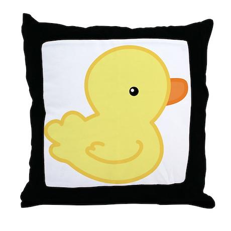 Yellow Baby Duck Throw Pillow