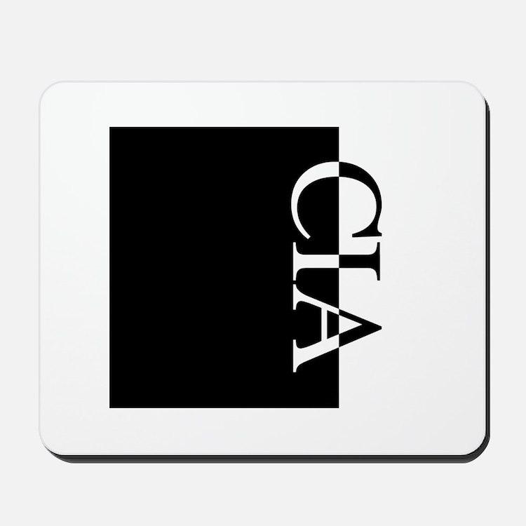 CIA Typography Mousepad