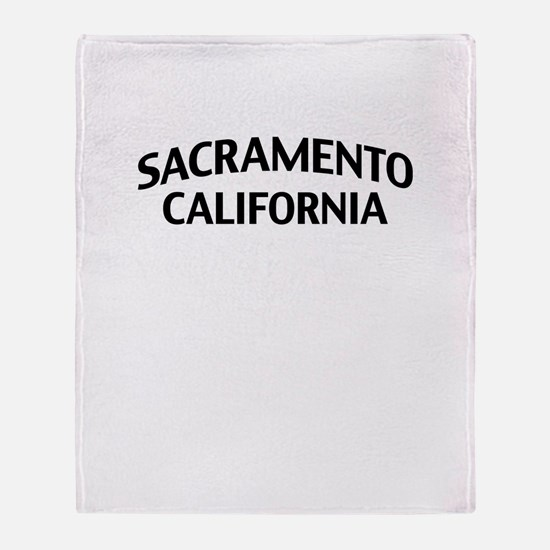 Sacramento California Throw Blanket