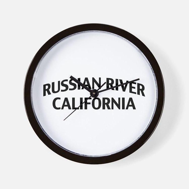 Russian River California Wall Clock