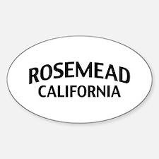 Rosemead California Sticker (Oval)