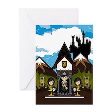 Princess & Black Knights Greeting Card