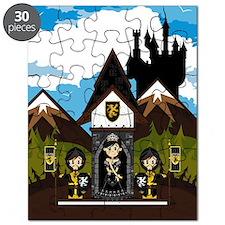 Princess & Black Knights Puzzle