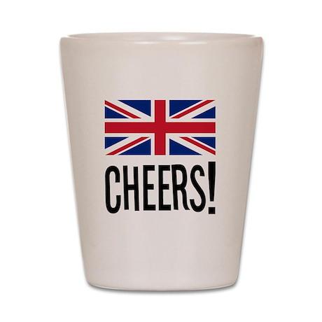 British Cheers Shot Glass