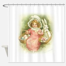 """Cute Easter Bunny"" Shower Curtain"