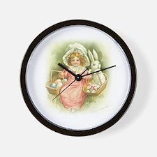 """""""Cute Easter Bunny"""" Wall Clock"""
