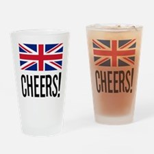 British Cheers Drinking Glass
