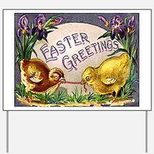 """Easter Chicks"" Yard Sign"