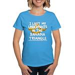 Women's Dark T-Shirt featuring Banana Triangle