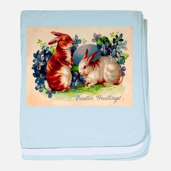 """Easter Bunnies"" baby blanket"
