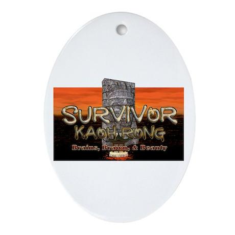 Survivor Kaoh Rong Oval Ornament