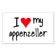 I LOVE MY Appenzeller Decal