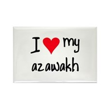 I LOVE MY Azawakh Rectangle Magnet (10 pack)