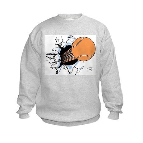 Tennis Ball Burst Kids Sweatshirt