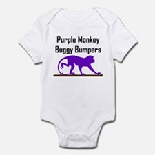 Purple Monkey Buggy Bumpers Infant Creeper