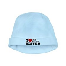 I love My Police Sister baby hat
