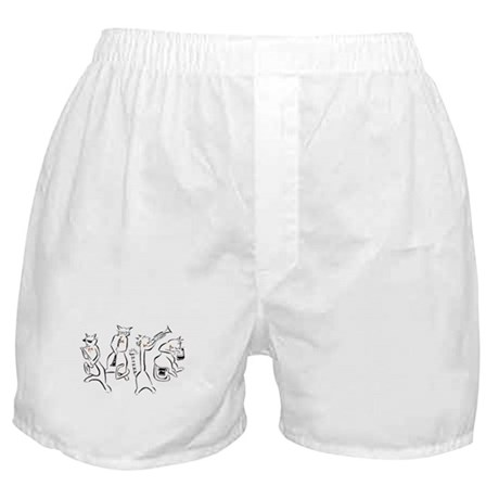 SloaneHome Cool Cats Boxer Shorts