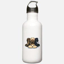 3 Afghan Hounds Water Bottle