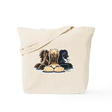 3 Afghan Hounds Tote Bag