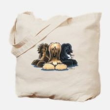 3 Afghan Hounds Tote Bag