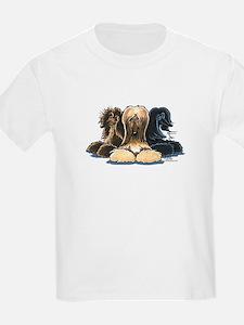 3 Afghan Hounds T-Shirt