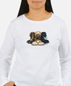 3 Afghan Hounds T-Shirt