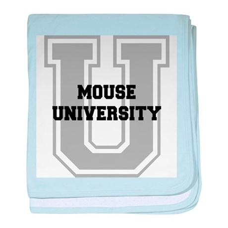 Mouse UNIVERSITY baby blanket