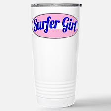 Surfer Girl Stainless Steel Travel Mug