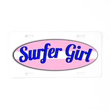 Surfer Girl Aluminum License Plate
