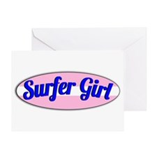 Surfer Girl Greeting Card